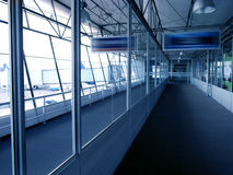 Airport. Travel concept; modern empty airport Stock Images