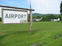 Airport. A small rural airport in Maine Stock Photos