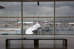 Airport. Scene royalty free stock photo