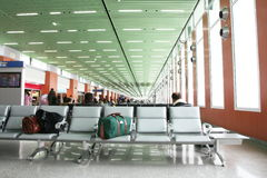 In airport Stock Image