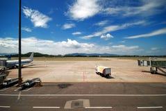 Airport. A scene at Wuyisha Airport, Fujian, China. (No trademark or logo in this photo stock images