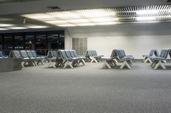 Airport. Waiting empty Royalty Free Stock Photo