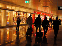 Airport. Group of people in an airport Royalty Free Stock Photo