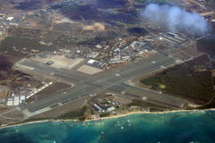 Airport aerial view. An aerial view of airport in Maui - Hawaii Stock Images