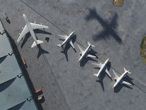 Airport, aerial view Royalty Free Stock Photo