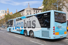 Airport Aerobus in Barcelona Stock Images