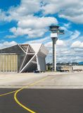 Airport. Air traffic control tower in the airport Stock Image