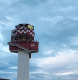 Airport air traffic control tower Royalty Free Stock Image