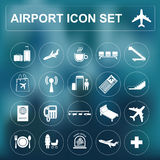 Airport, air travel icon set. Vector illustration Stock Images