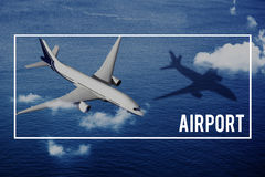 Airport Airline Transportation Travel Journey Flight Trip Concep Royalty Free Stock Images