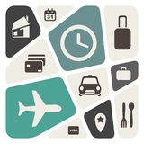 Airport and airlines services abstract background Stock Photo