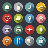 Airport and airlines services flat icons.  Royalty Free Stock Photo