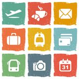 Airport and airlines services icons.  Stock Photo