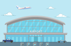 Airport. Airplane, machinery, provision of service Royalty Free Stock Image