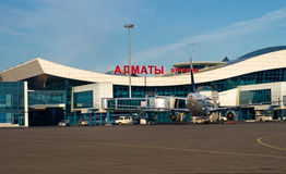 Airport in Almaty, Kazakhstan. Royalty Free Stock Images