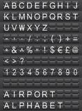 Airport alphabet Royalty Free Stock Photography