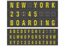Airport alphabet Stock Photo