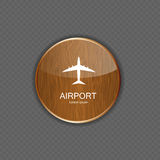 Airport application icons vector Stock Photo