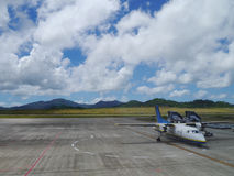 Airport apron of New Ishigaki Airport, Okinawa Japan Stock Photos