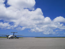 Airport apron of Yonaguni Airport, Okinawa Japan Stock Photos