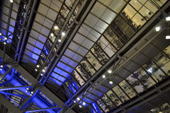 Airport architecture. Steel and glass ceiling inside Suvarnabhumi airport (Bangkok, Thailand Royalty Free Stock Image