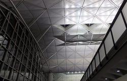 Airport architecture. Hong Kong international airport Royalty Free Stock Photo