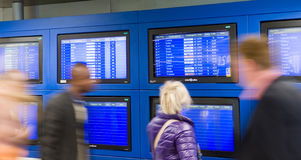 Airport arrival and departure Royalty Free Stock Photo