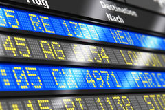 Airport arrival and departure board Stock Photos