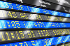 Airport arrival and departure board Royalty Free Stock Photos