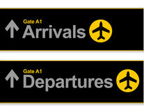 Airport Arrival and departures Royalty Free Stock Photos