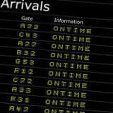 Airport Arrivals Board Stock Photography