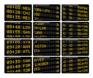 Airport arrivals & departures Royalty Free Stock Photography