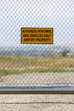 Airport - authorized personnel only Stock Images