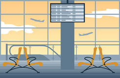 Airport background. Waiting room at the airport Stock Photo