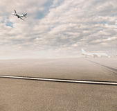 Airport background Royalty Free Stock Photo
