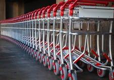 Airport Baggage Carts Stock Image