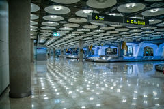 Airport baggage claim area. In Madrid, Spain Stock Images