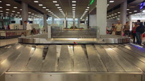 Airport baggage claim stock video footage