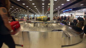 Airport baggage claim stock video