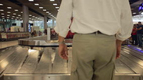 Airport baggage claim stock footage