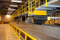 Airport Baggage Handling Conveyors Royalty Free Stock Photography
