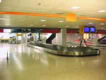 Airport baggage pickup. Carousel, in Geneva Airport Stock Image
