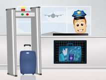 Airport baggage scanner Royalty Free Stock Photography
