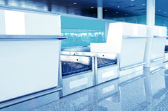 Airport baggage screening equipment Stock Photo