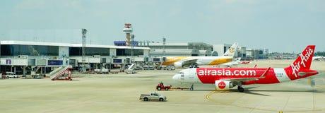Airport Bangkok Asia Airbus and Nok Air stock photography