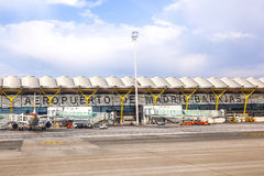 Airport Barajas in Madrid Stock Photography