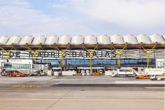 Airport Barajas in Madrid Stock Photos