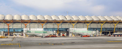 Airport Barajas in Madrid Royalty Free Stock Photo
