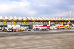 Airport Barajas in Madrid Royalty Free Stock Photos