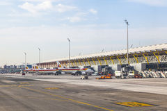Airport Barajas in Madrid Royalty Free Stock Images